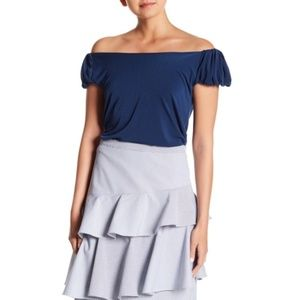 CeCe by Cynthia Steffe Puffed Off Shoulder Blouse